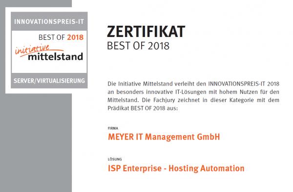 ISP Enterprise 14 Hosting Automation
